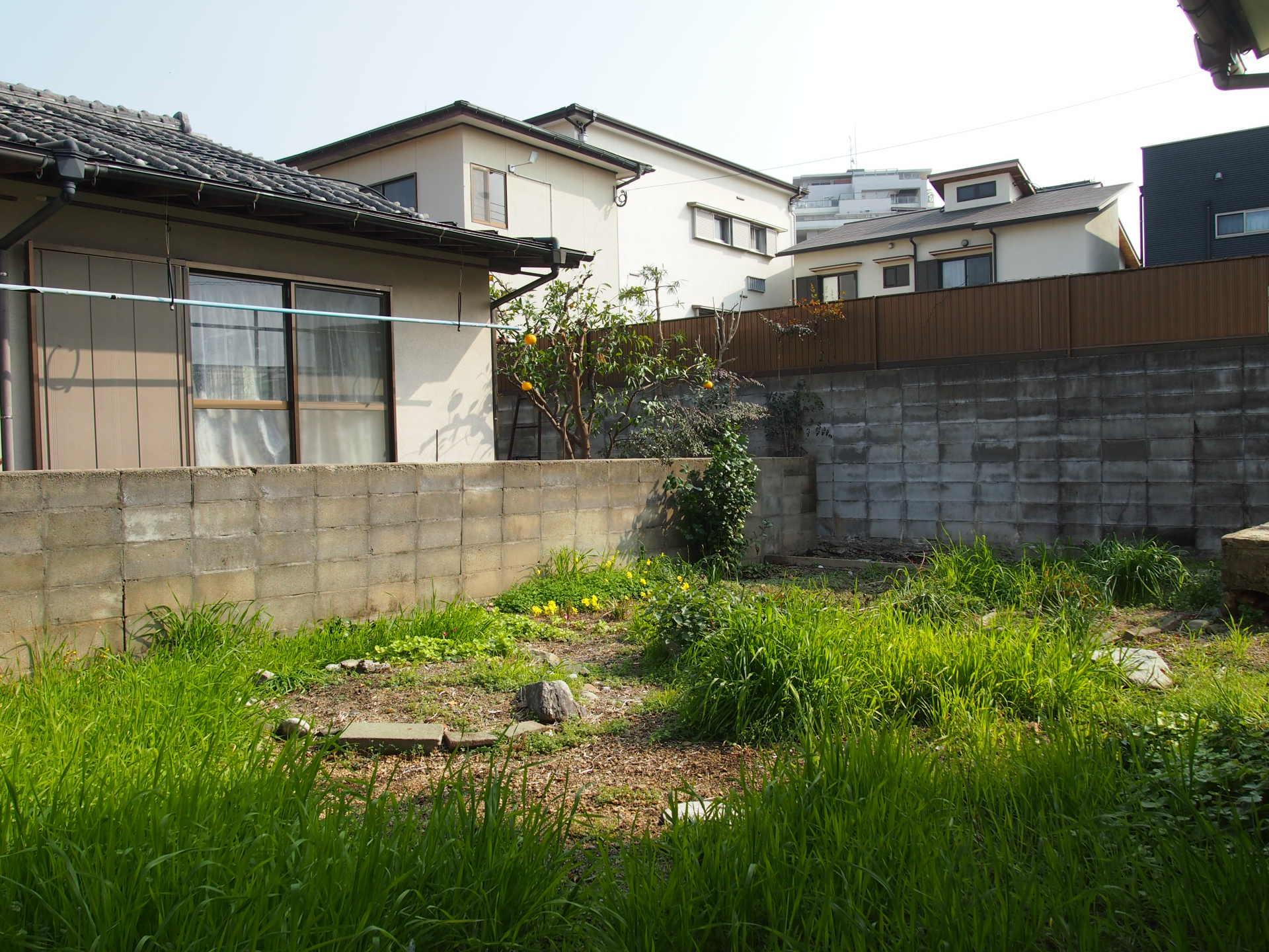 中庭広い!草抜きだけ頑張れば憩いの広場になるでしょう!