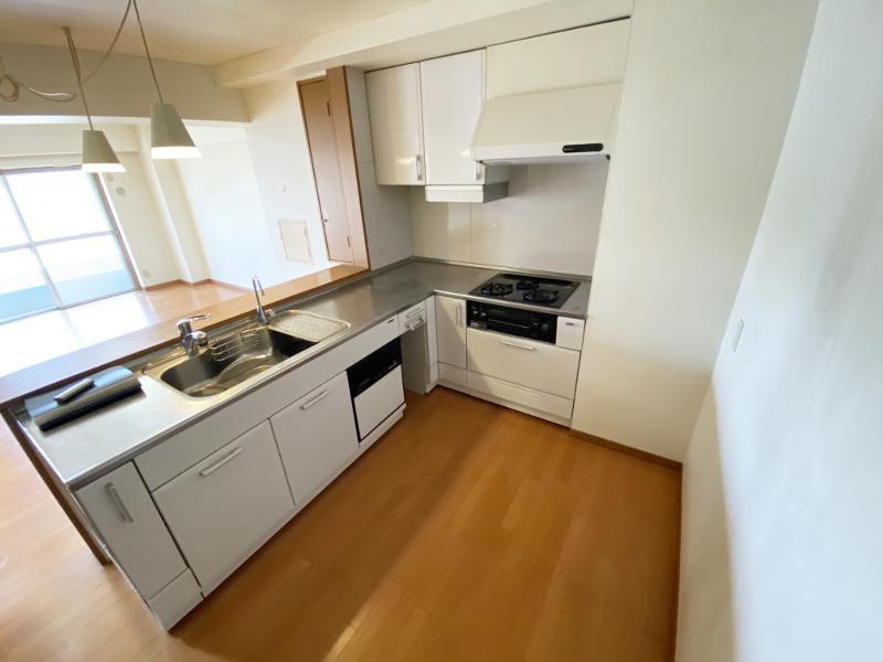 キッチンはかなり広め。このままでいいかも