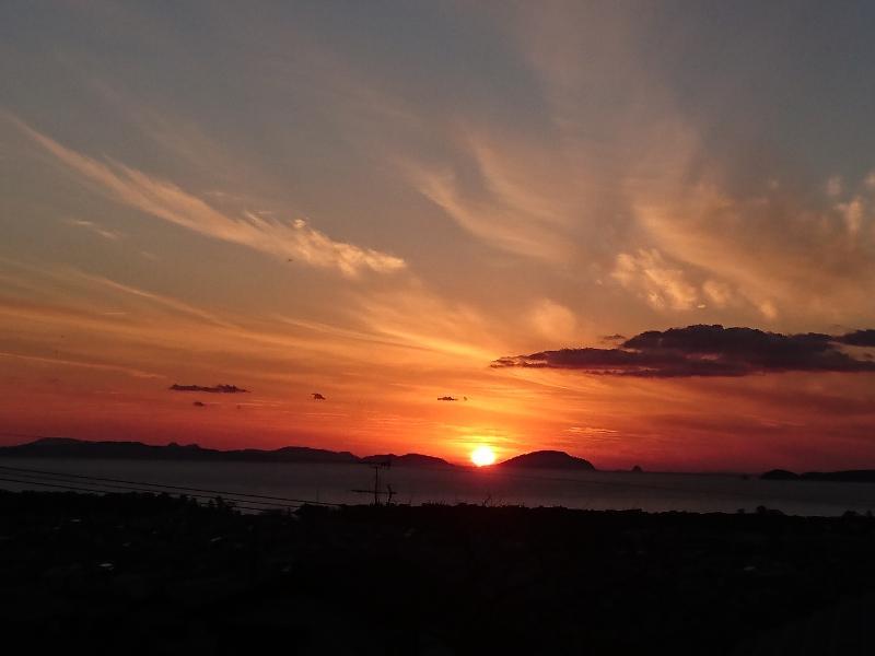 沈み行く夕日も綺麗