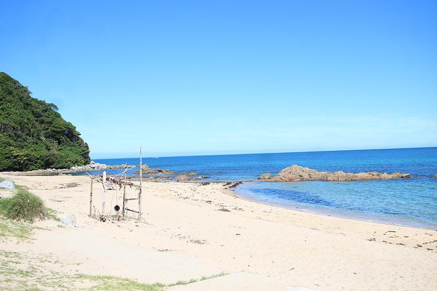 完璧な浜辺。