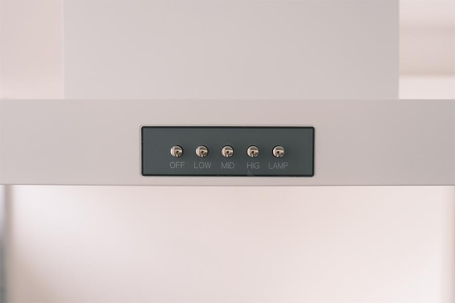 換気扇のスイッチが可愛い。