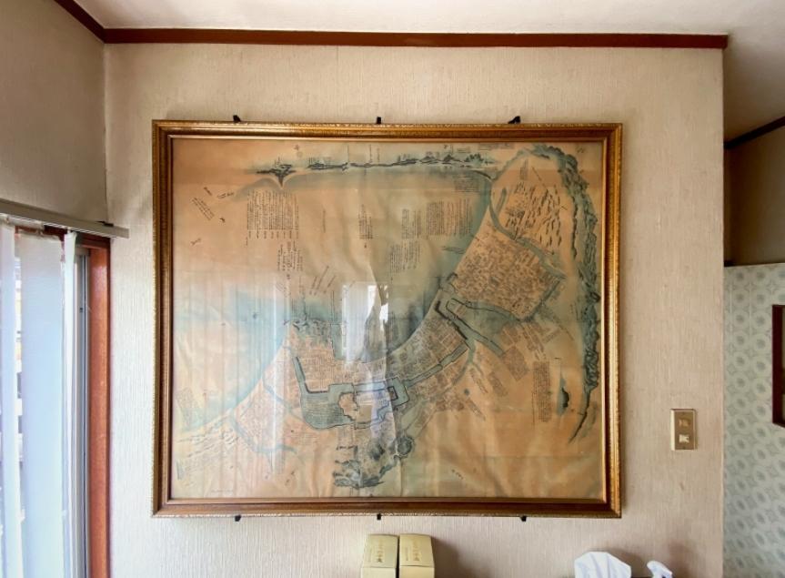 何十年も前の城南区エリアの地図。前所有者さんから譲り受けました