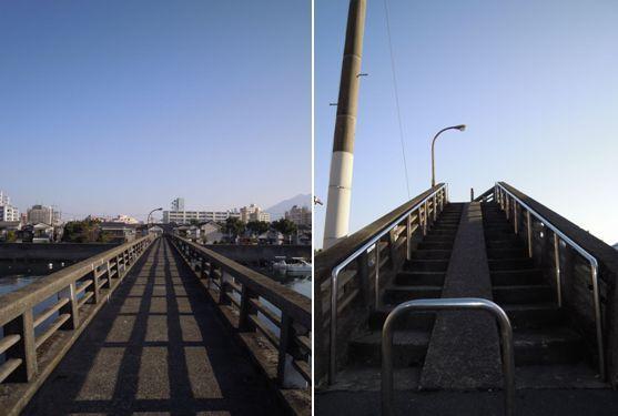 徒歩10秒の小さな橋