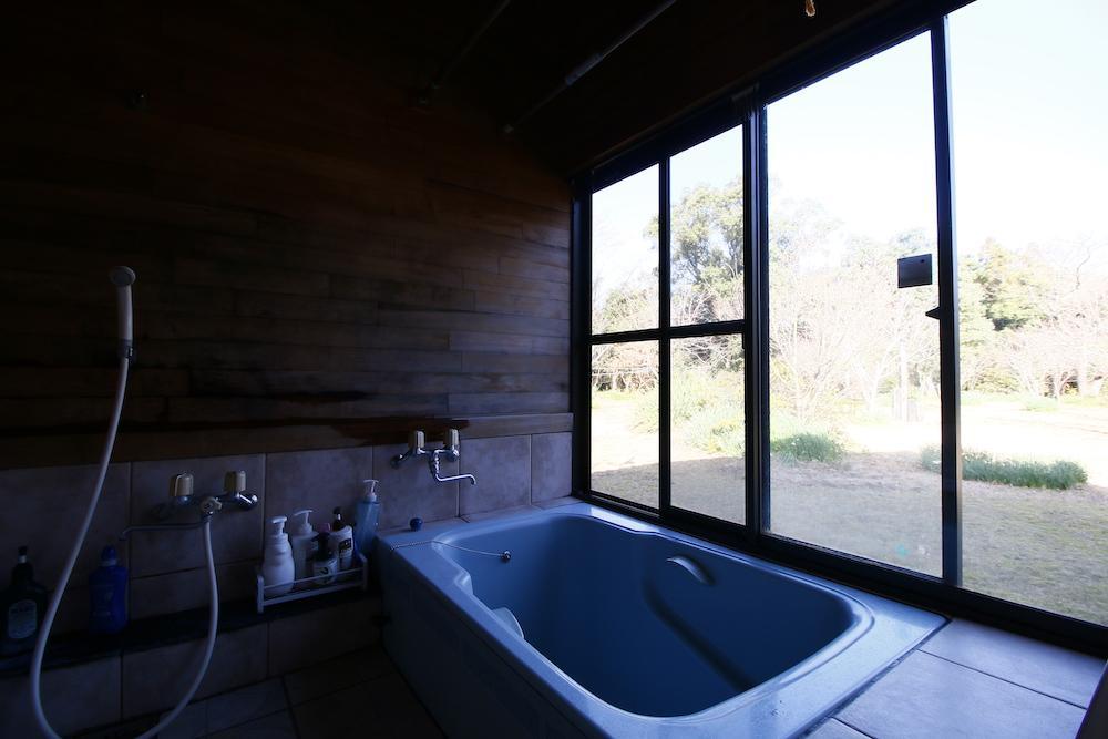 外の景色を楽しみながらのお風呂はGOOD!