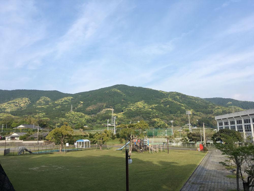 隣の公園からの景色