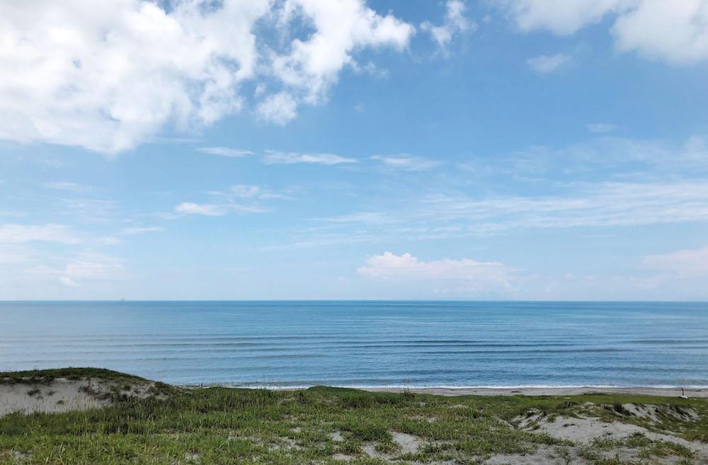 水平線の美しい東シナ海!