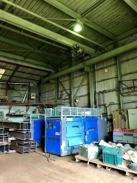 倉庫、資材置場、大型車両駐車場等に現況使用中
