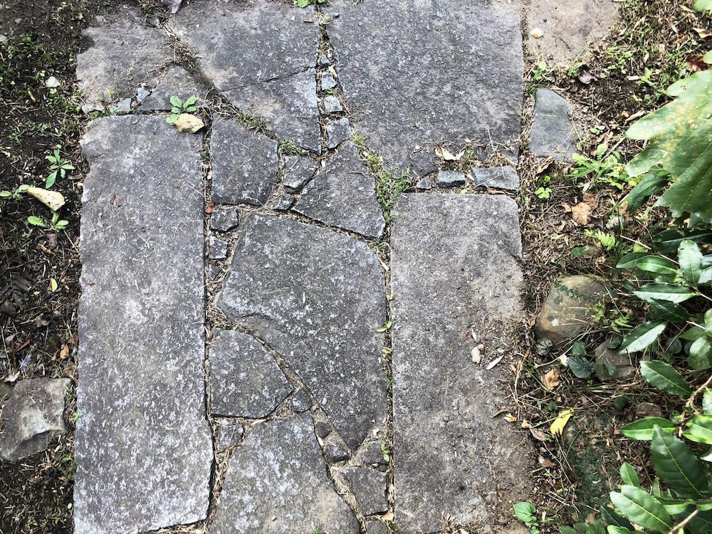 乱張りの敷石や飛び石も情緒があります