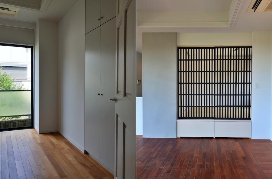 左:個室も上品 右:小上がりを客間のように仕切る