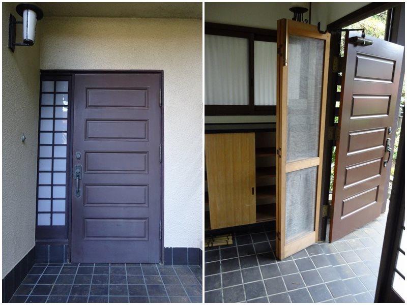 玄関|扉は板チョコのようなかわいらしい作り