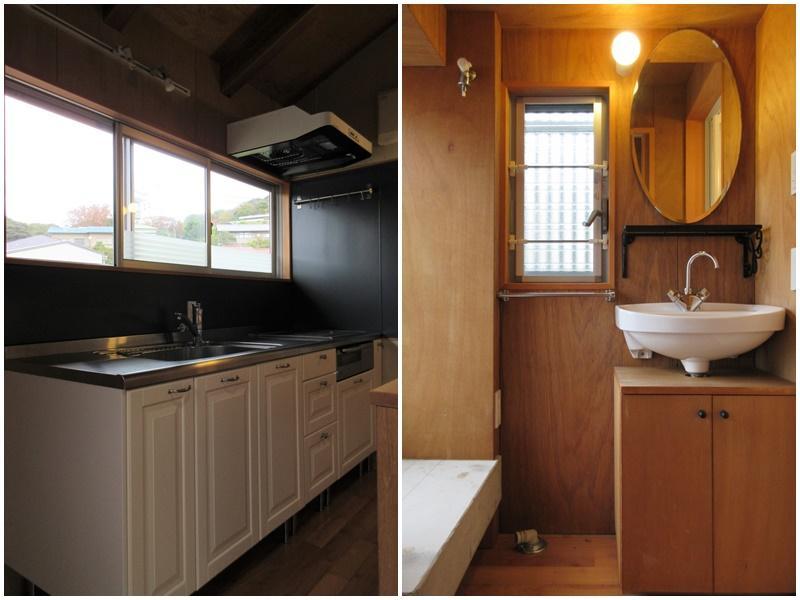 キッチンの前には窓|洗面