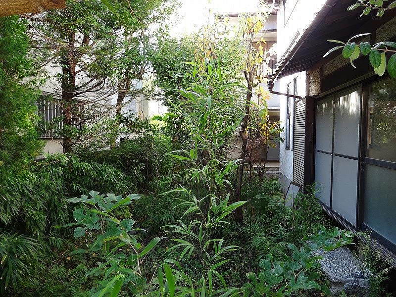 敷地内奥戸建ての庭