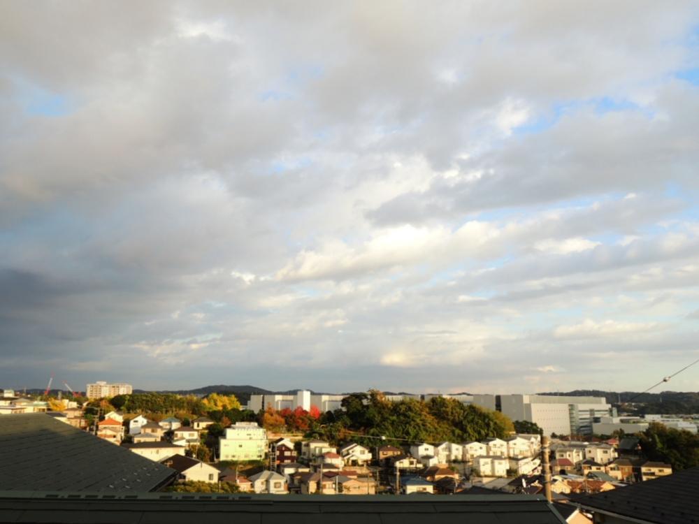 あいにくの天気でしたが、バルコニーからの眺望