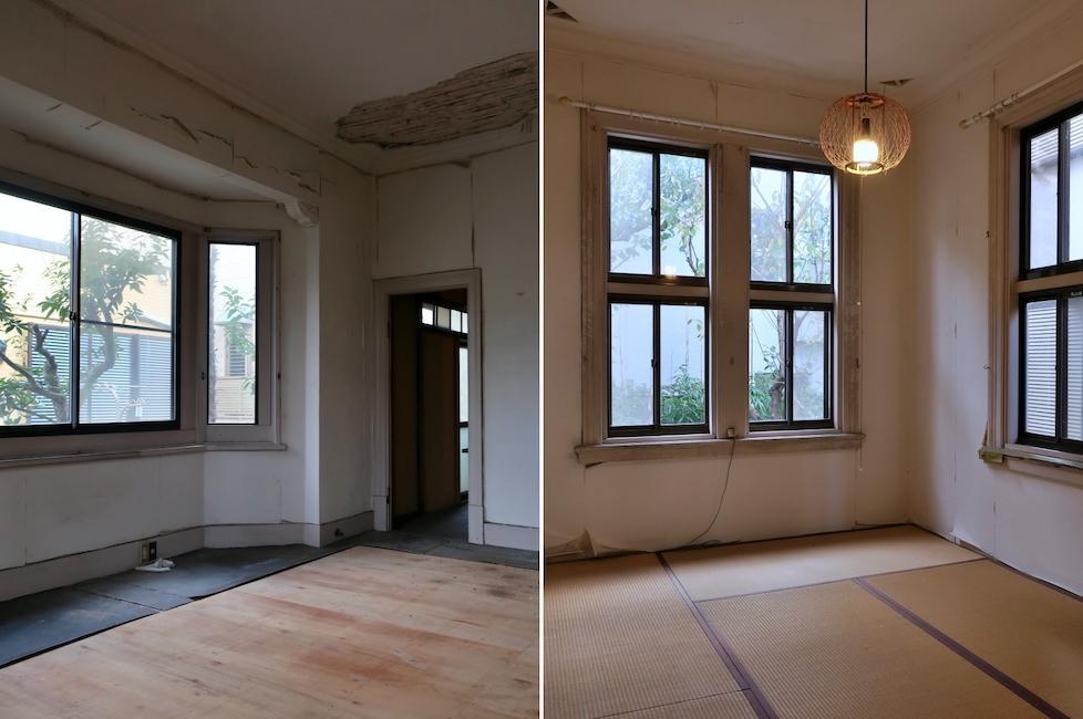 敷地内奥戸建て1階洋室&1階