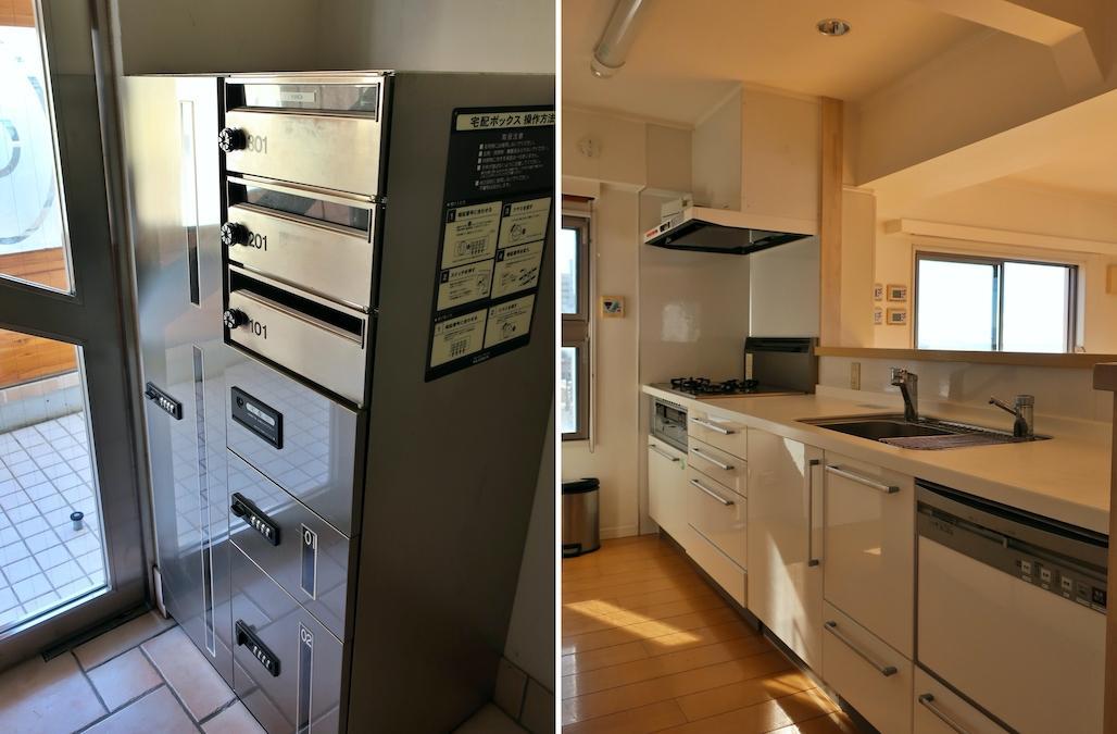 うれしい宅配BOX キッチンはゆとりあり