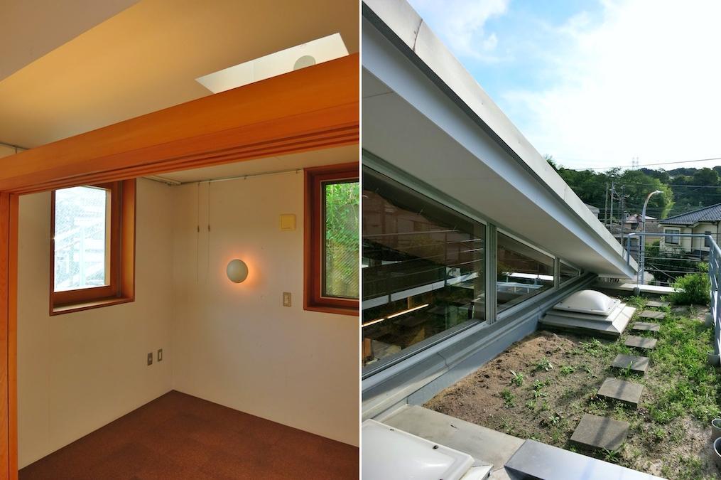 寝室と屋上