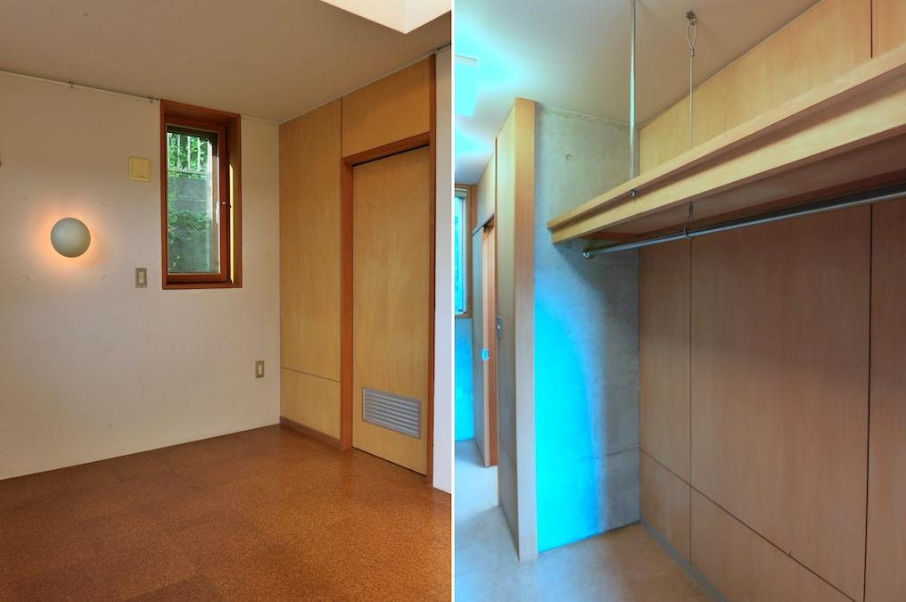 左:寝室 右:収納庫、換気の注意が必要です