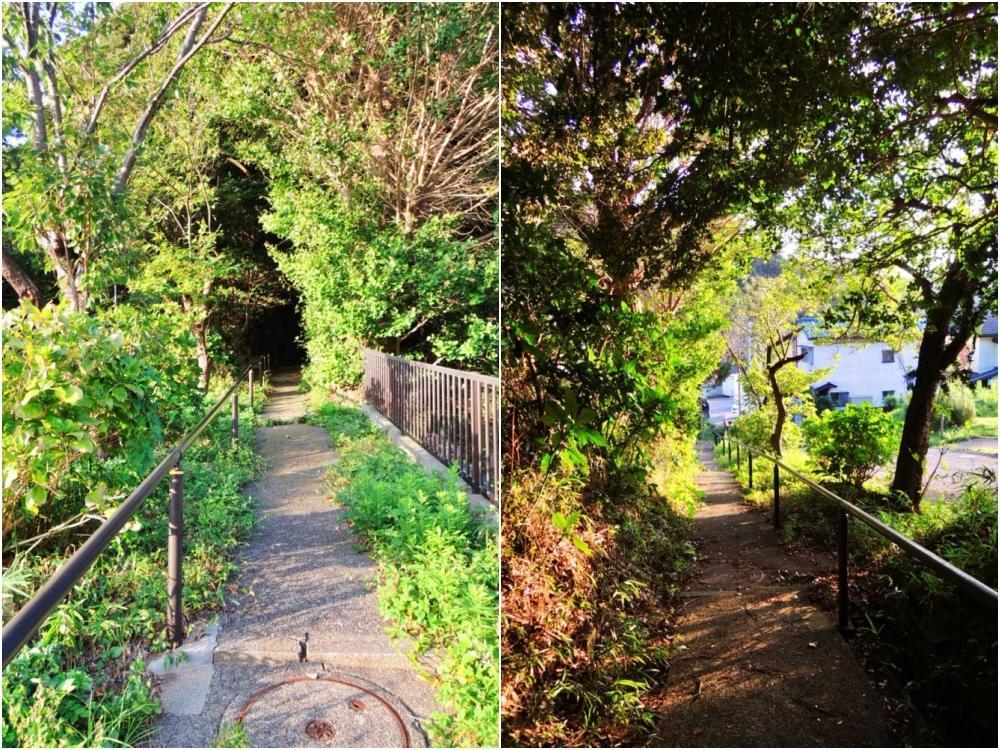 物件までは階段です|森を抜けていく感覚とはこのこと!
