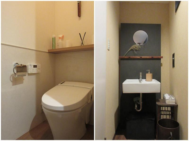 比較的新しいトイレと洗面
