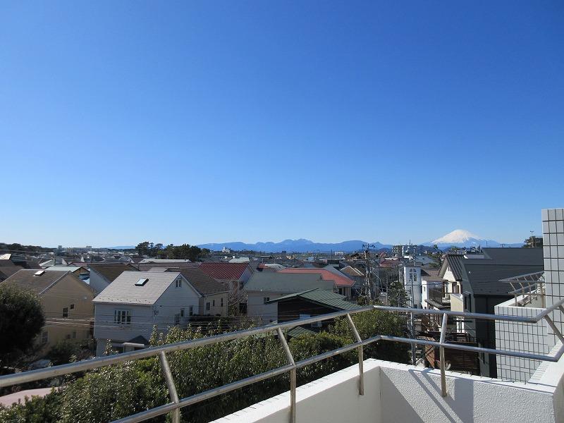 富士山が綺麗に見えた