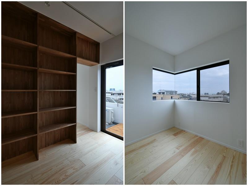 本棚のある書斎スペース その奥の部屋