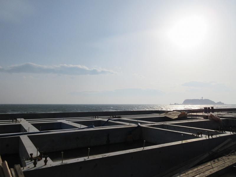 工事中の現地|海が見えるっていいな