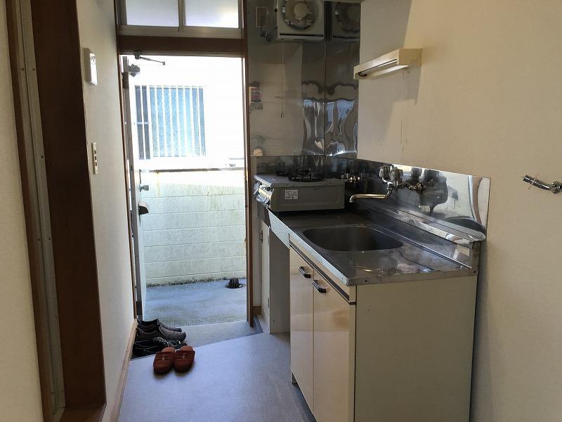 ある1室のキッチン