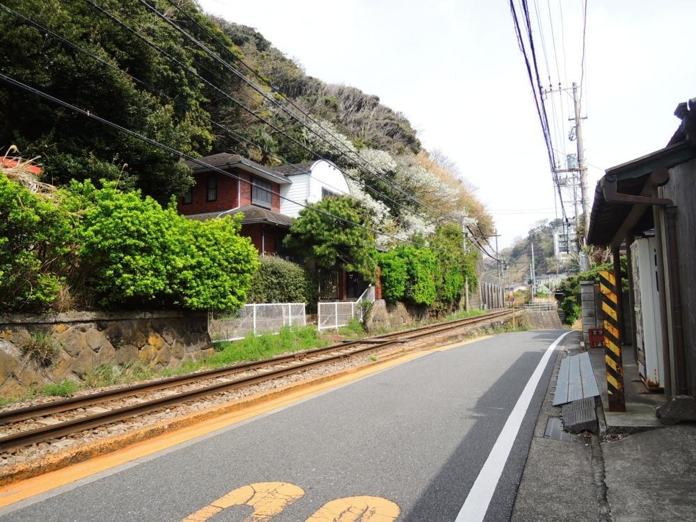 江ノ電と並走がデフォルトのエリアです