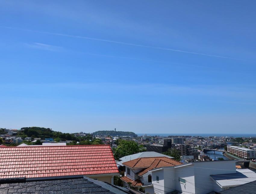 江ノ島も相模湾も見渡せます