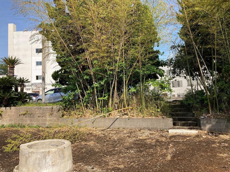写真右手の階段を上ると市役所の駐車場に通じています。奥の白い建物は三浦市役所です。