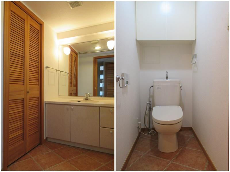 洗面|トイレ(トイレと洗面が同室のタイプ)