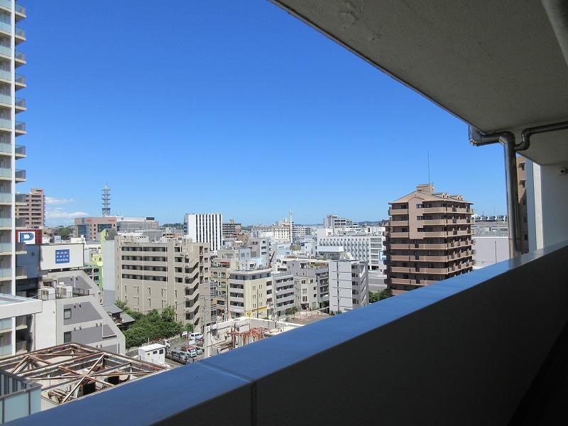 共用廊下から見た藤沢のまち