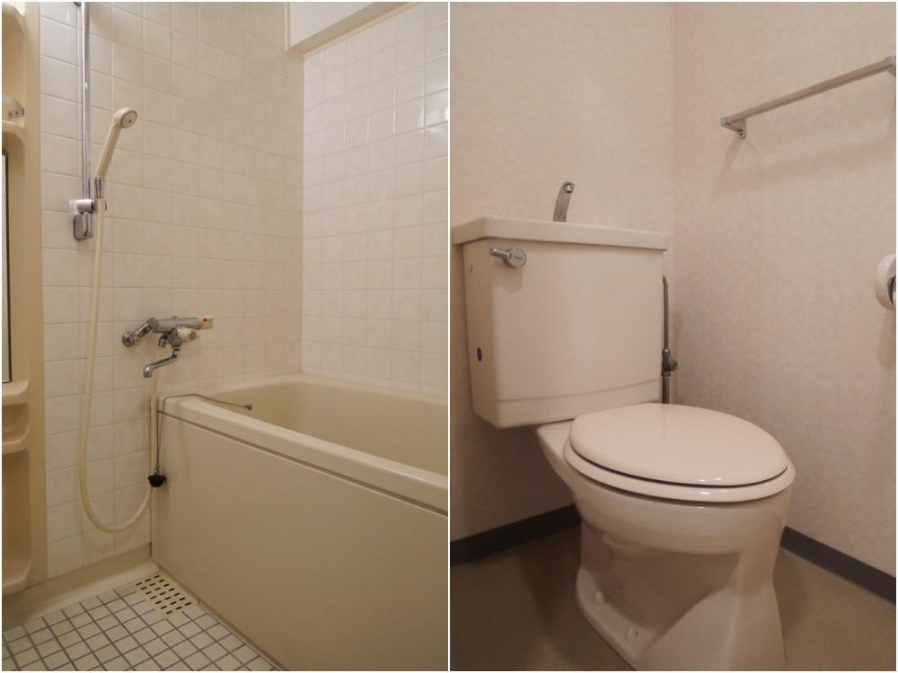 バストイレは別々です