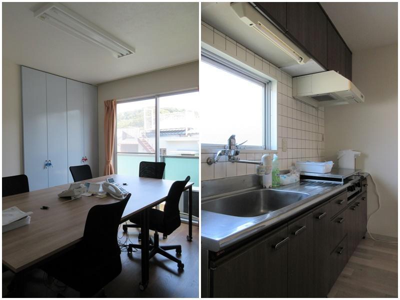個室 キッチン(ガスコンロです)