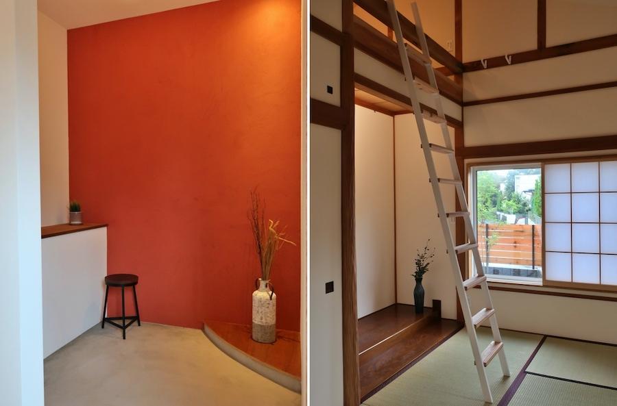 玄関脇には土間の空間が!ここで何をするか考えたい/和室にはロフトが作られました