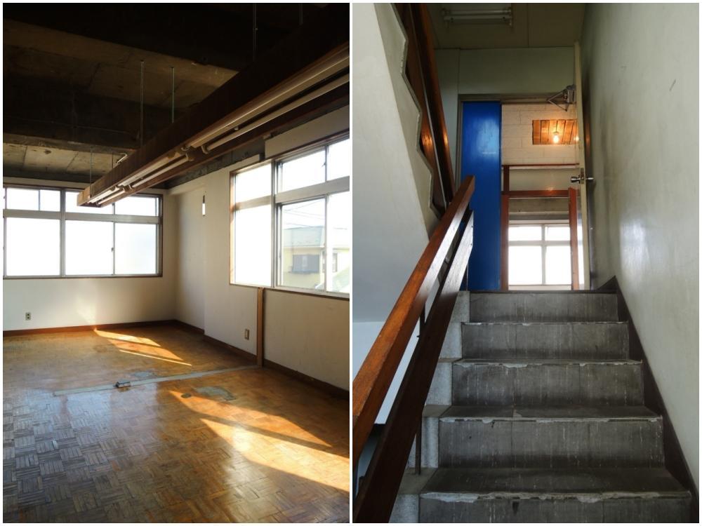 2階 オフィススペースと入口