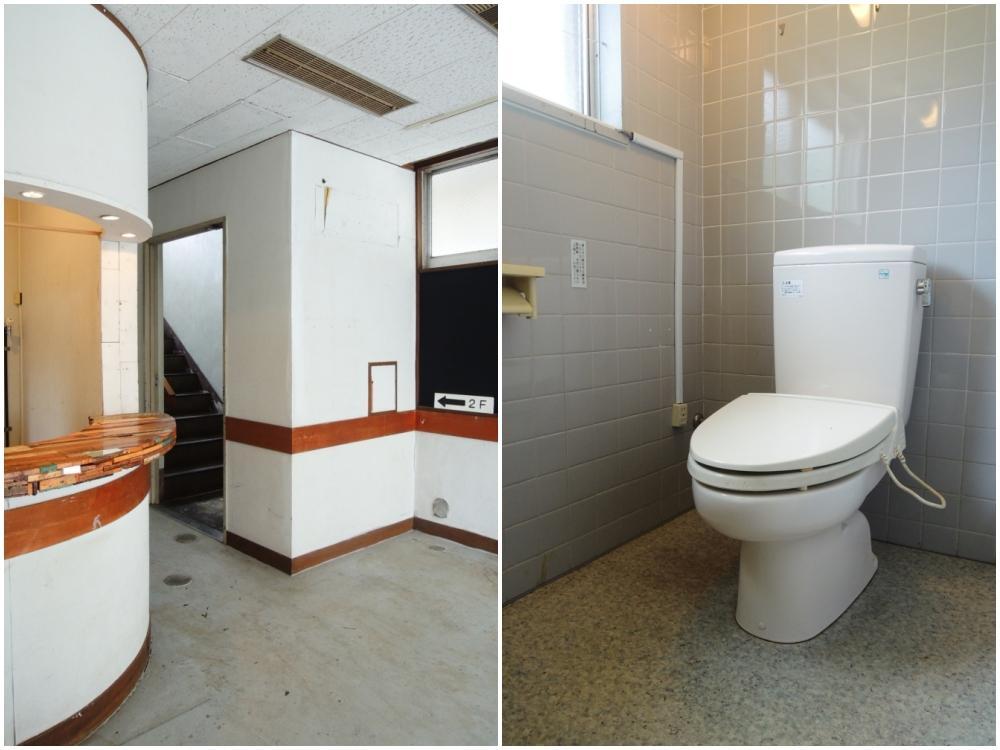 1階 エントランス周りと突き当りのトイレ