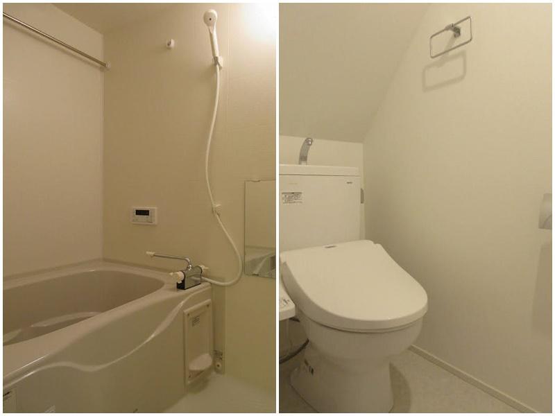 浴室・トイレは必要最小限な感じ