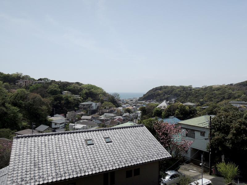 稲村ガ崎方向の海がきれいに見えるのです