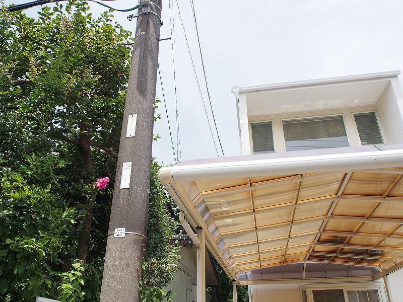 敷地内に電柱があります。(1500円/年)