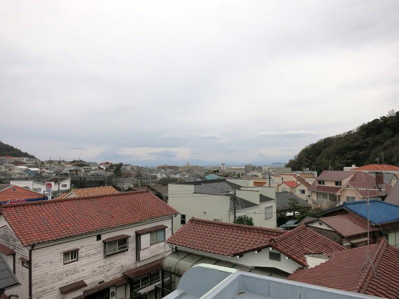 屋上からの眺望|天気が悪くてすみません