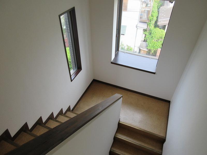 外側の階段はノスタルジック