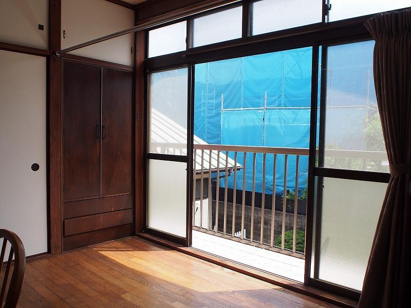 2階の南側の窓