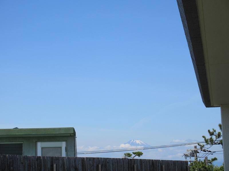 遠くに富士山!!