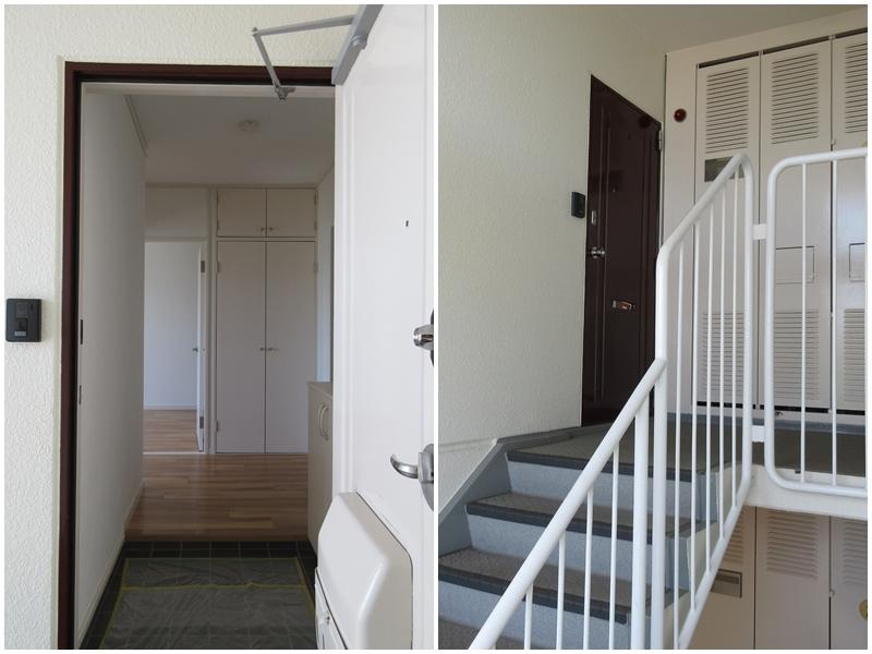 玄関|レトロな階段