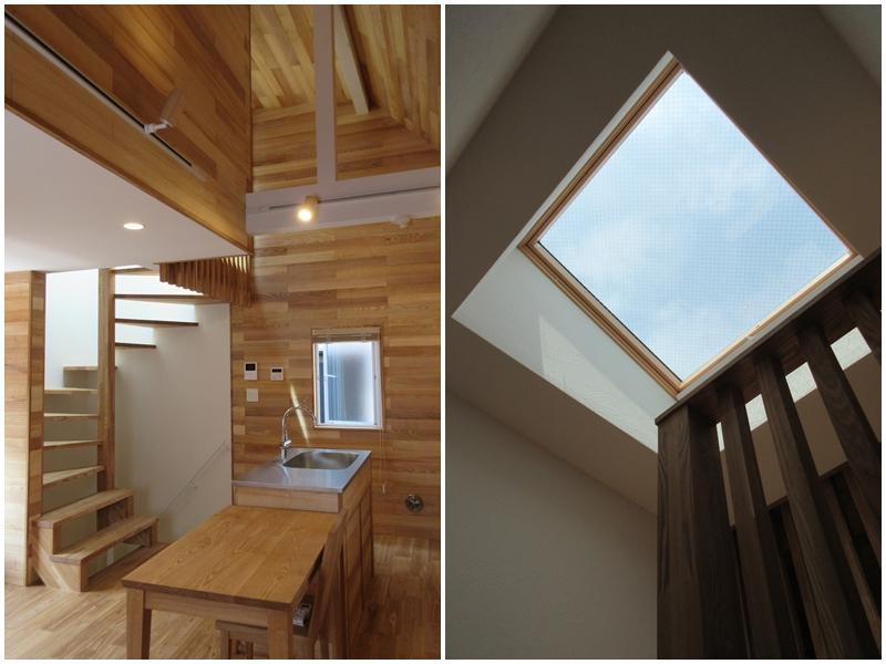 2階の吹き抜け|階段の天窓