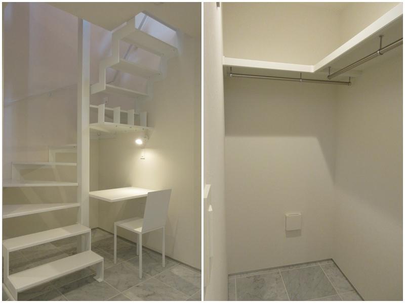 1階の階段下スペース|ウォークインクローゼット