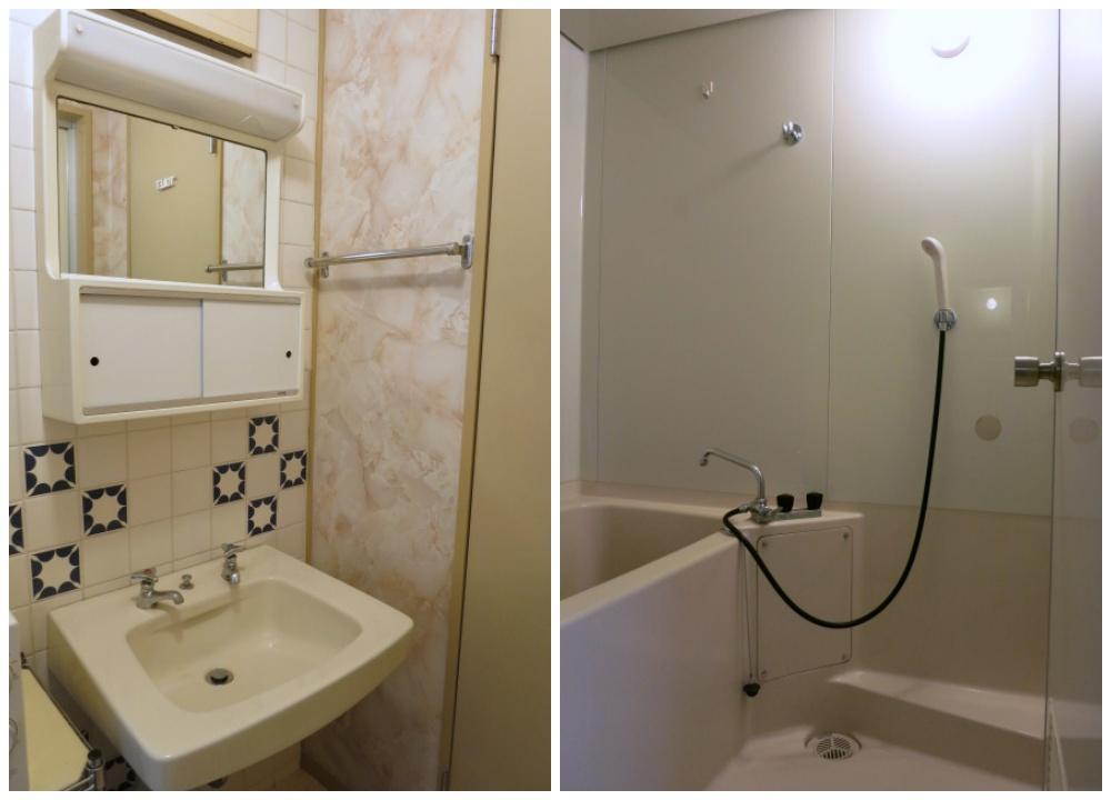 衛生設備は古いタイプのものですがキレイです。