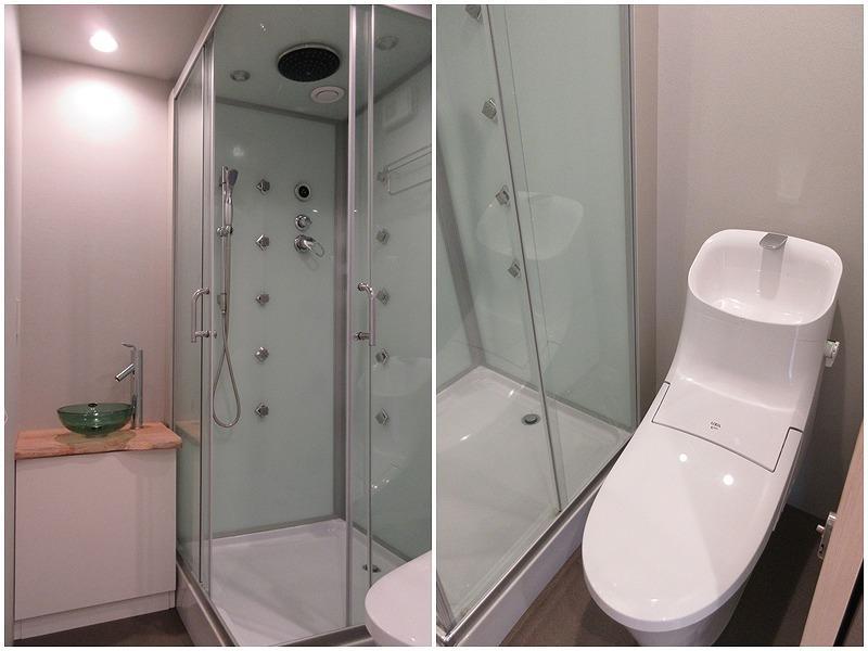 シャワーブース|トイレは同室に
