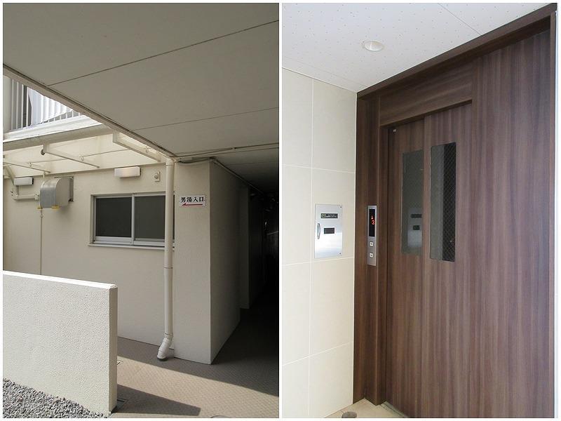 大浴場の入り口|エレベーター